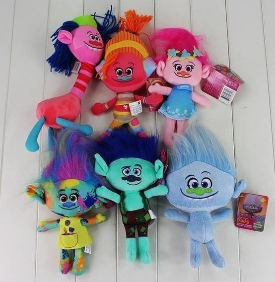 Pelúcias Trolls Hasbro Poppy Tronco Gliter Cooper Original