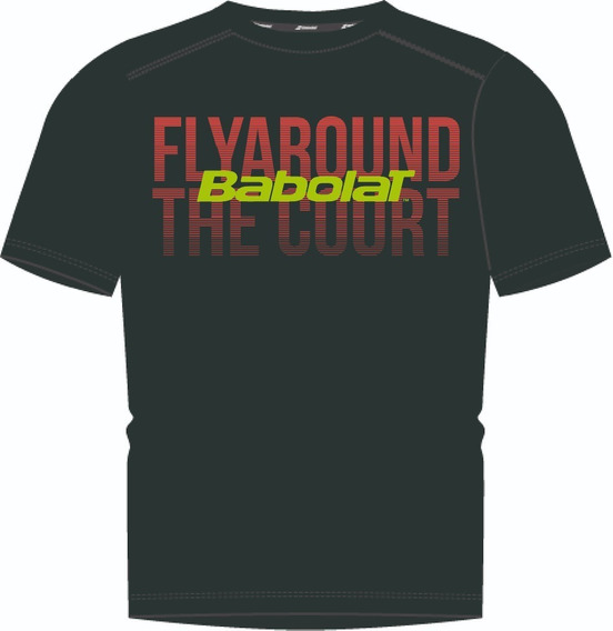 Remera Babolat Hombre T Shirt Team Fly Negro