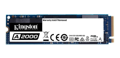 Imagen 1 de 2 de Disco sólido SSD interno Kingston SA2000M8/250G 250GB