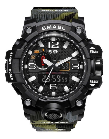 Relógio Tático Militar Masculino Smael 1545 Original S-shock