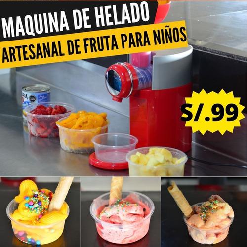 Imagen 1 de 9 de Maquina De Helado De Fruta Artesanal