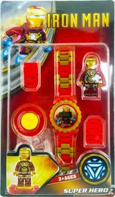 Relógio Digital Infantil Homem De Ferro + Boneco