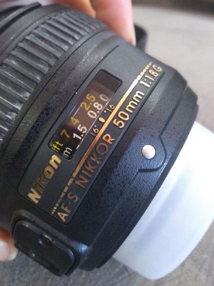 Lente Nikon 50 Mm 1.8g Usada
