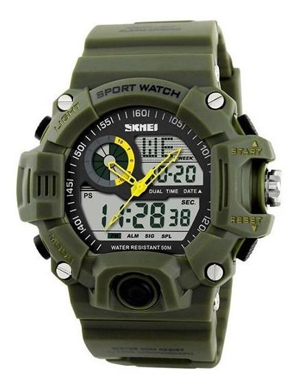 Relógio Masculino Skmei Analógico Digital 1029 Verde