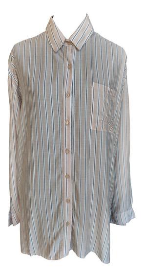 Camisa Larga Rayada Ossira.033