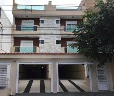 Cobertura Com 3 Dormitórios À Venda, 134 M² Por R$ 458.000 - Vila Pires - Santo André/sp - Co0817
