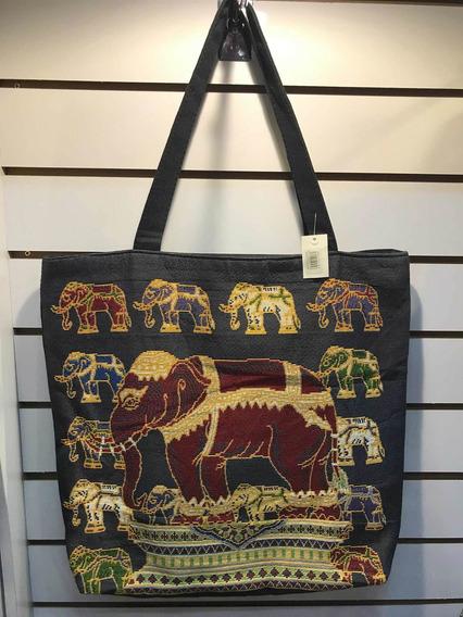 Bolsa De Tecido Feminina Com Estampa De Elefante