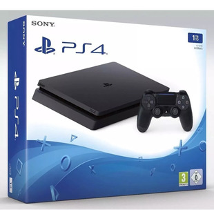 Playstation 4 - Ps4 Slim 1tb - 2 Controles Dualshock + Jogos