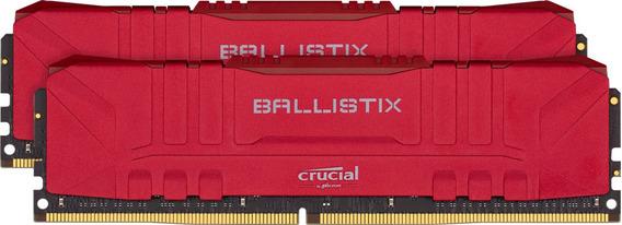 Memoria Udimm Crucial Ballistix 16gb(2x8gb) Ddr4-2666 Red