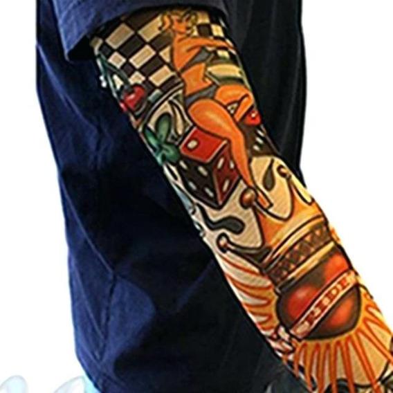 4 Pares De Manguito Tatoo - Tatuagem Falsa