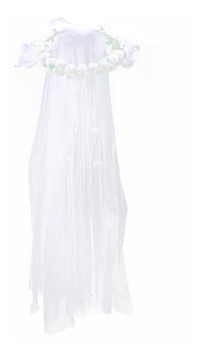 Imagen 1 de 8 de Boda Velos De Novia Con Corona Floral Tocado Blanco Wedd