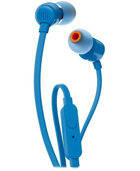 Fone Intra-auricular Jbl T110 Azul Com Fio Original 12x S/ju