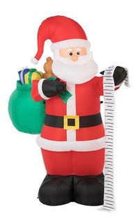 Inflable Santa Claus Lista De Regalos 1.80mt Envio Gratis