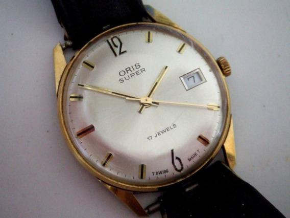 Relógio Swiss Marca Oris, Folhado A Ouro 1960