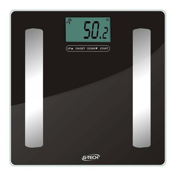 Balança corporal digital G-Tech Glass Pro preta