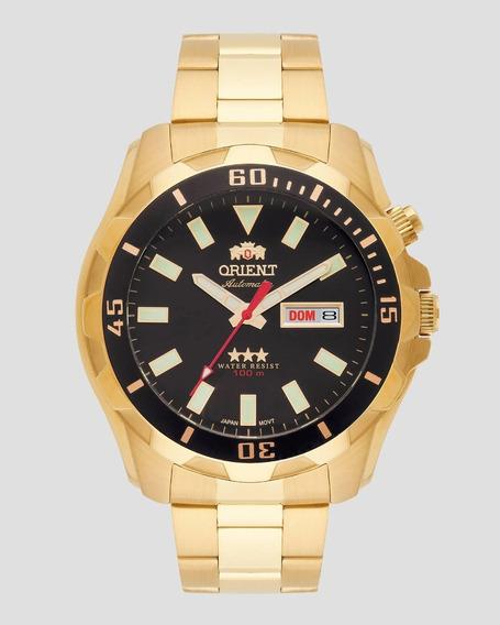 Relógio Orient Automático Masculino Dourado 469gp078 P1kx