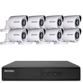 Kit Cftv 8 Câmeras Full Hd 1080p 2mp Hikvision Ds-7208 8 Ch