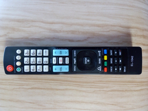 Controle Tv Lg Televisão Marca Lg Com Pilha Palito El-1042