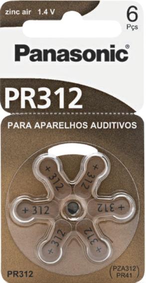 Bateria Auditiva Panasonic Zinco Air Pr-312 C/ 60 Unidades