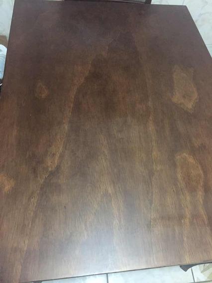 Mesa De Jantar De Madeira C/ 4 Cadeiras 111x80