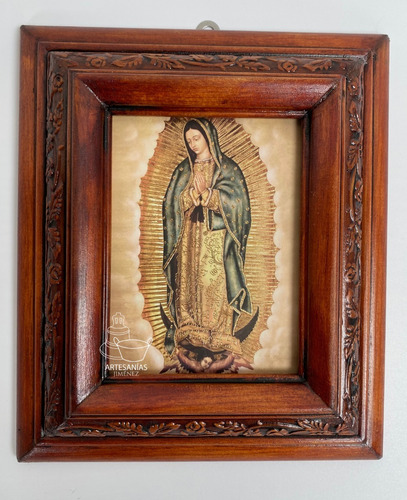 Cuadro Virgen De Guadalupe C00016 Nogal