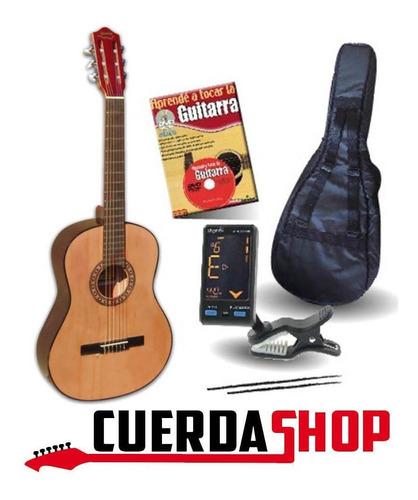 Guitarra Criolla Gracia M2 Funda Acolchada Afinador Y Curso
