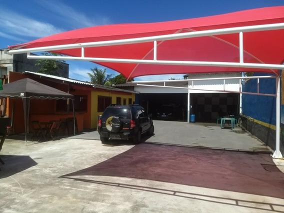 Cobertura 5x5mts Vermelha Para 2 Carros