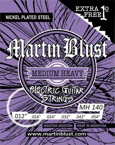 Imagen 1 de 3 de Encordado Guitarra Eléctrica Martin Blust .012/.054 3ra Ent.