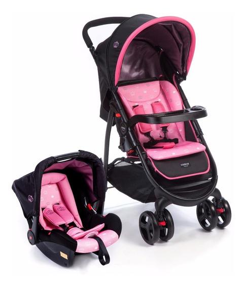 Carrinho Travel System Nexus (carrinho + Bebê Conforto) Rosa