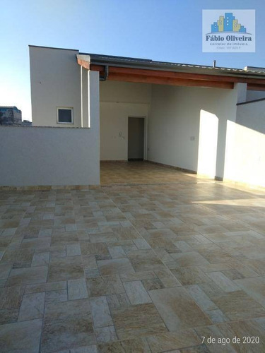 Cobertura Com 2 Dormitórios À Venda, 47 M² Por R$ 340.000,00 - Vila Marina - Santo André/sp - Co0166