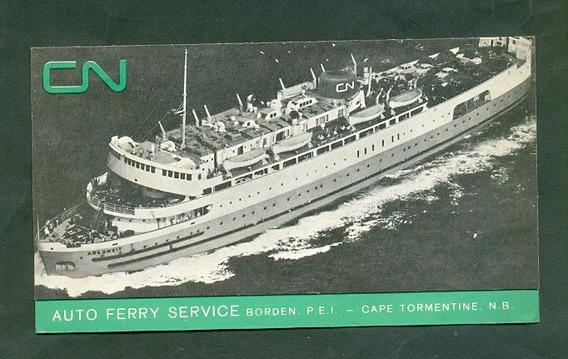 Auto Ferry Service . Publicidad Canada .
