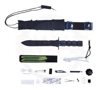 Cuchillo Táctico Cold Steel Gh224 + Accesorios Supervivencia
