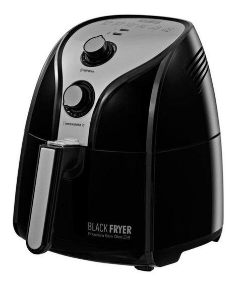Fritadeira sem óleo Black+Decker Black Fryer preta e prata 110V