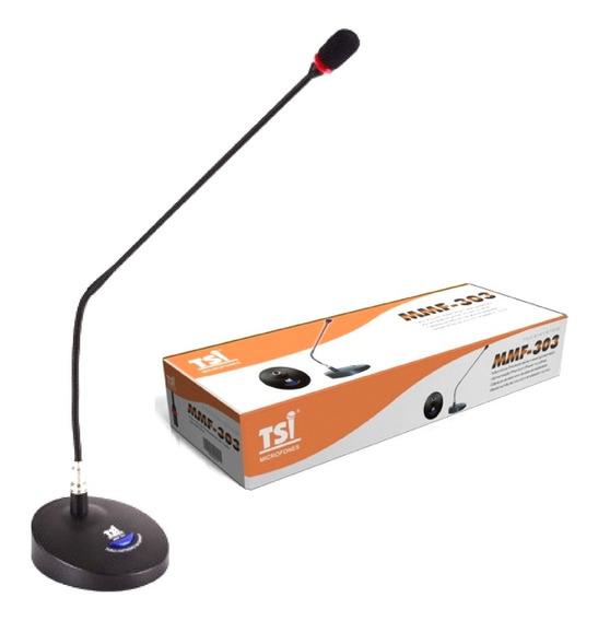 Microfone De Mesa Gooseneck Tsi Mmf-303 Com Haste Oferta