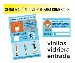 Vinilo Señaletica Distanciamiento Comercio Local Fabrica