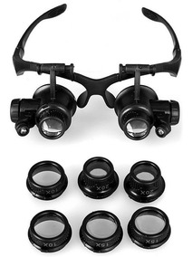 Óculos De Aumento Lupa Cabeça Para Dentista Assistência