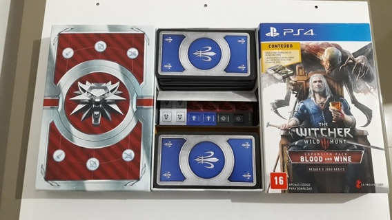 Ps4 The Witcher 3 Wild Hunt Blood Wine Baralho Completo #346