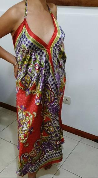Vestido Hindú Noche Saten