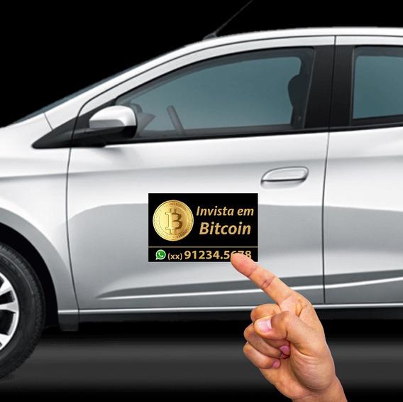 Adesivo Bitcoin - Kit 2 Peças Para Portas De Carro 32 X 20cm