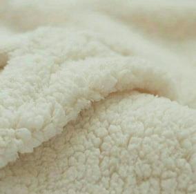 Tecido Carapinha Lã De Ovelha Pelúcia Cor ( Natural )