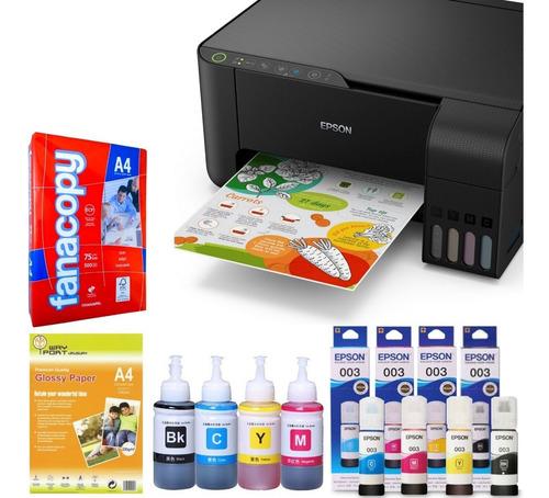 Impresora Epson L3150 Wifi Sistema Continuo + Tinta + Papel