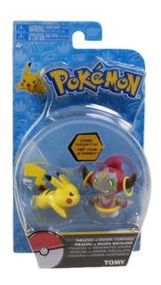 Pokemon - Pikachu Vs Hoopa Confined - 5cm - Original - Tomy
