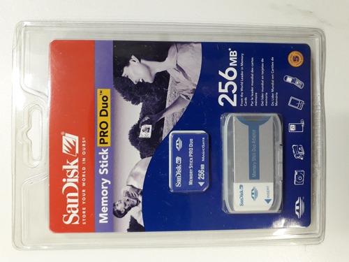 Imagem 1 de 2 de Sony Adaptador De Memory Stick/pró Duo Com Cartão 256mb