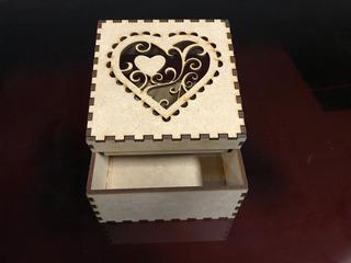 10 Cajas Decorativa Corte Láser