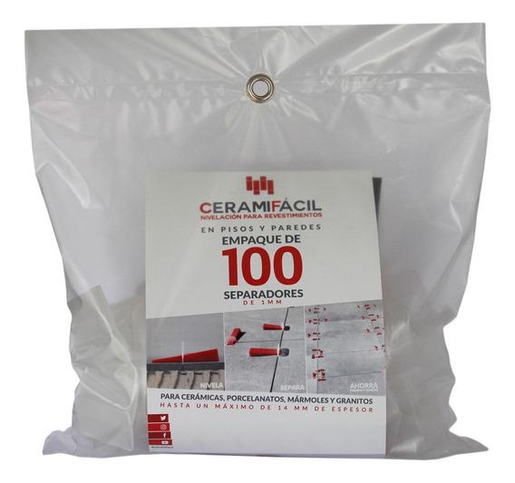 Kit Nivelador De Porcelanato Y Cerámica 100 Clips