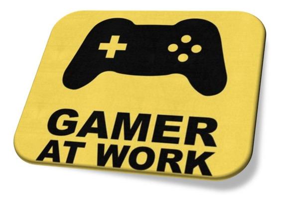 Mouse Pad Gamer At Work Personalizado