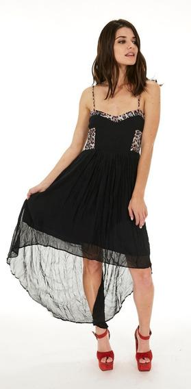 Vestido De Gasa Inedita Precioso!!!