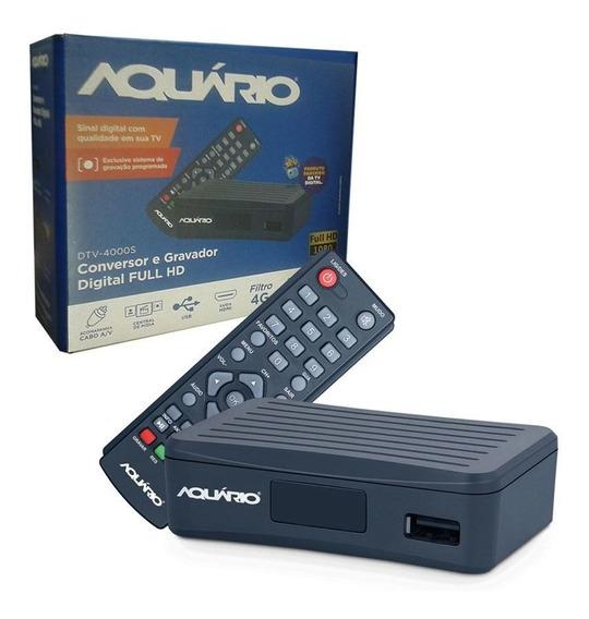 Conversor Digital Aquário Dtv-4000s Função Gravador Hd Rca