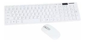 Teclado E Mouse Sem Fio Slim Wireless 2.4ghz C Capa Silicone