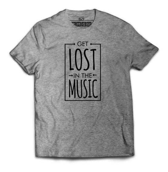 Camiseta Camisa Lost In The Music Perdido Na Musica Estilo